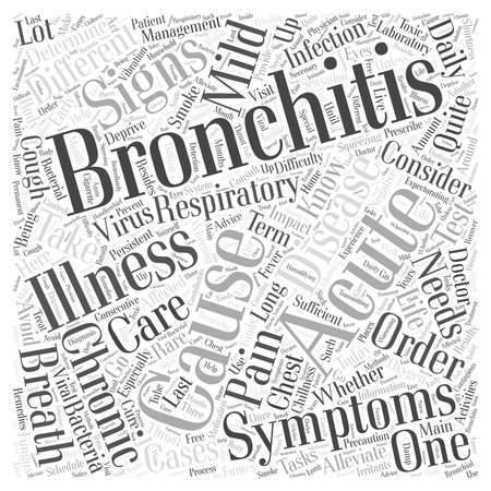mild: sign and symptom of bronchitis word cloud concept