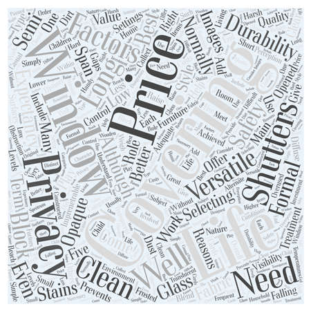 durability: Selecting The Coverings word cloud concept