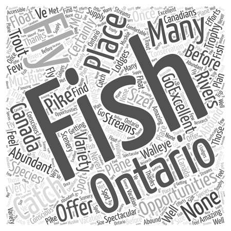 Fly Fishing in Ontario word cloud concept