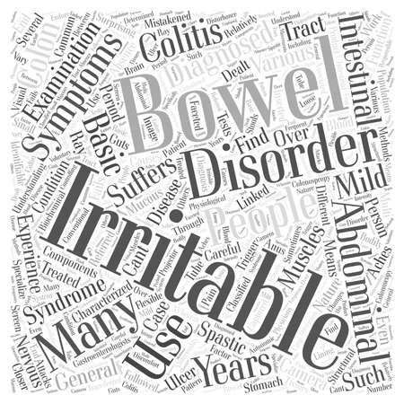 triggers: Irritable Bowel word cloud concept Illustration