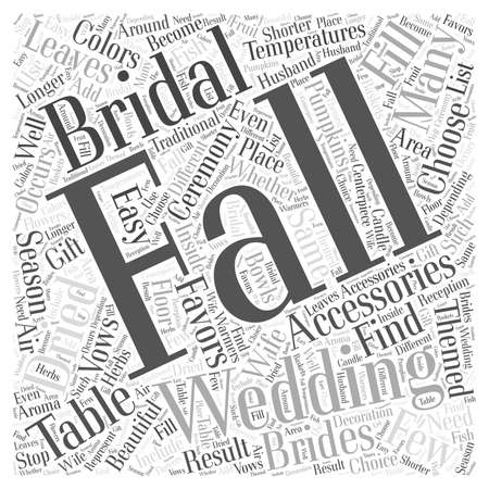 Fall Bridal Accessories word cloud concept Illustration