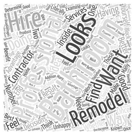 Should You Hire a Professional to Remodel Your Bathroom word cloud concept