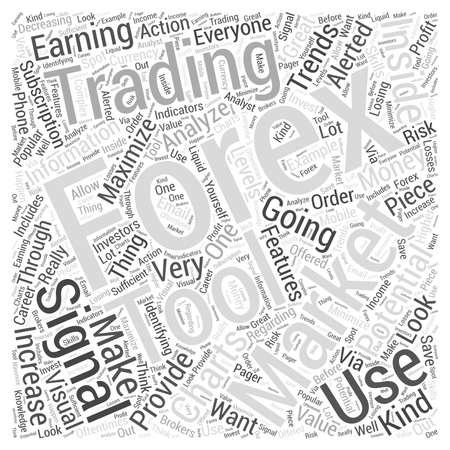 forex trading signaal word cloud concept Stock Illustratie