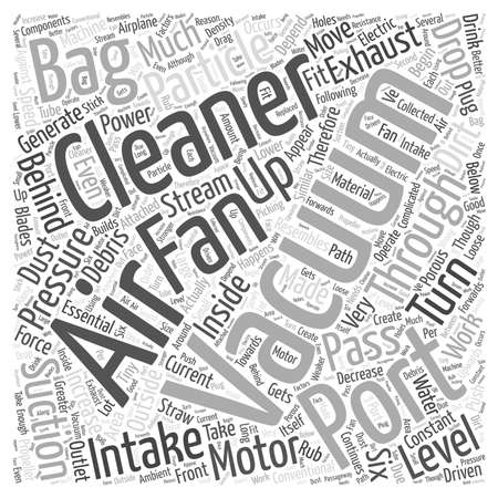 How Vacuum Cleaners Work word cloud concept Ilustrace