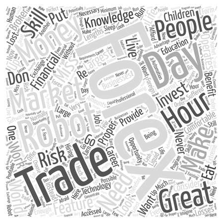 forex trading robot word cloud concept