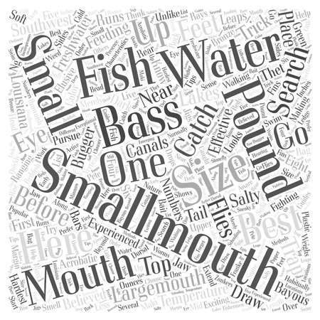 smallmouth bass fishing word cloud concept Illustration