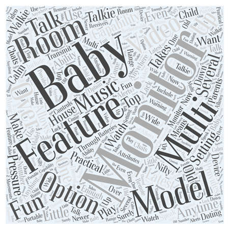 Setting Up Multi room Baby Monitors word cloud concept