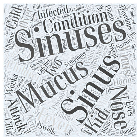 sinusitis: Sinus and Sinus Attack in Children word cloud concept Illustration
