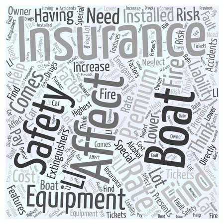 factors: Factors that affect your boating insurance word cloud concept Illustration