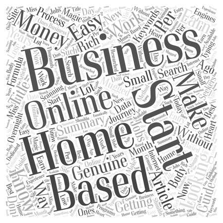 based: Starting Your Own Home Based Business The Easy Way word cloud concept