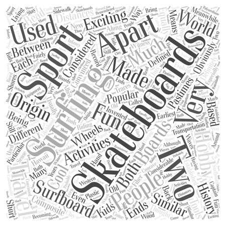 apart: skateboarding surfing word cloud concept Illustration