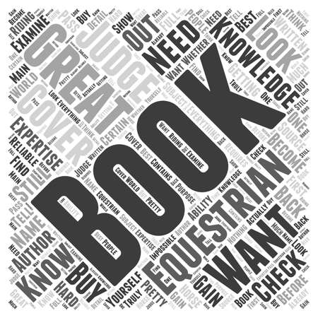 equestrian books word cloud concept