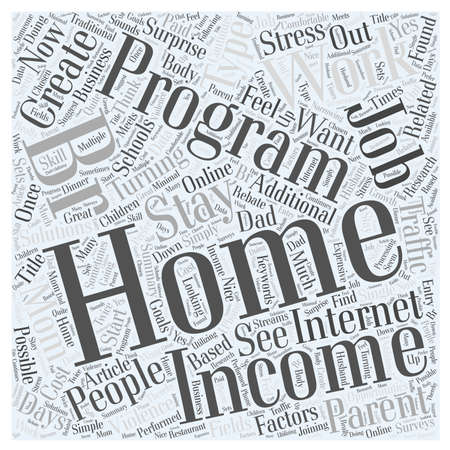 Stay At Home Parent s Income word cloud concept