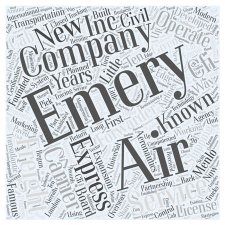 air freight: express air freight word cloud concept Illustration