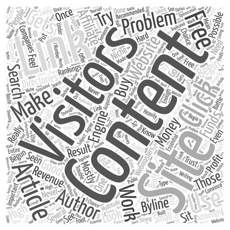 article: Free Article Content word cloud concept
