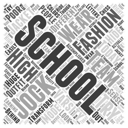 though: fashion high school word cloud concept Illustration