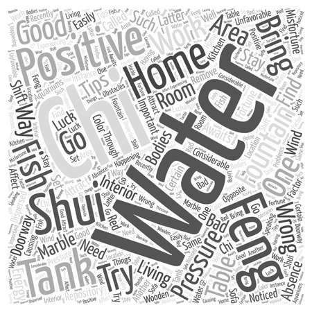 chi: Feng Shui Home Tips word cloud concept Illustration