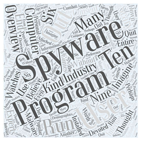 spyware: Spyware Overview word cloud concept