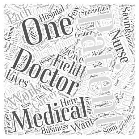 medical career: Medical Career Descriptions word cloud concept