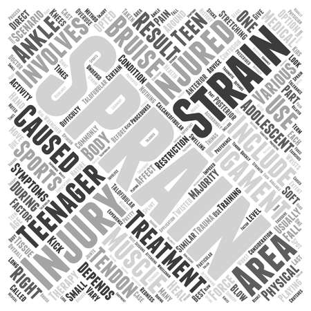 Sprains and Strains in Adolescents word cloud concept