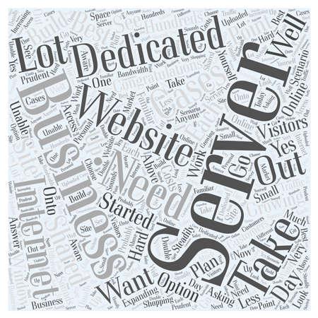 Need A Dedicated Server word cloud concept Ilustração
