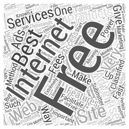 Free internet advertising word cloud concept Ilustração