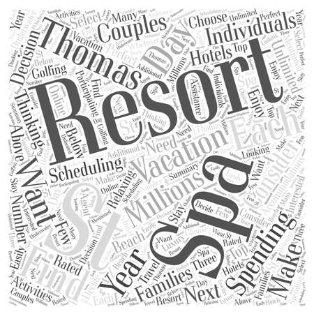 Spa Resorts in St Thomas word cloud concept 向量圖像
