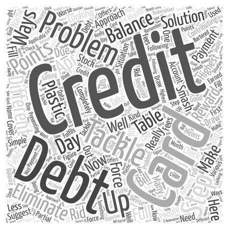 Steps To Tackle Plastic Debt word cloud concept Illustration