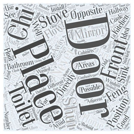 Feng Shui for Different Home Areas word cloud concept