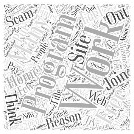 Free Work At Home Programs word cloud concept Illustration