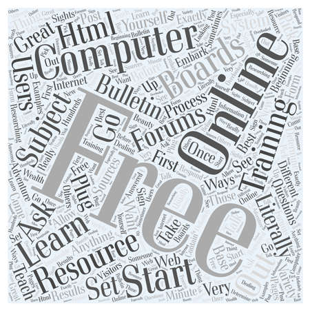 let s: Free Online Computer Training word cloud concept
