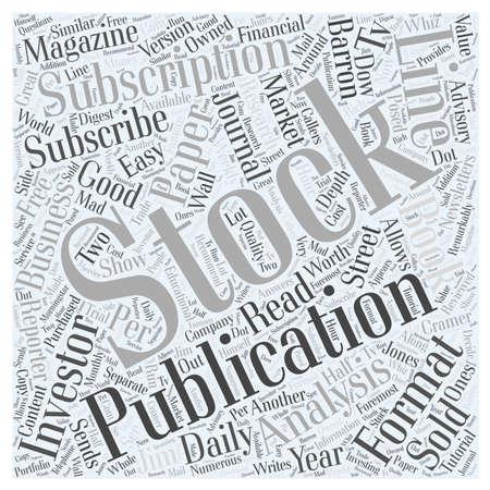 Abonneer je op Stock Publicatie word cloud concept Stock Illustratie