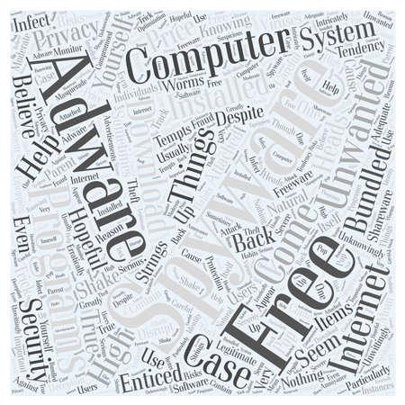 gratis spyware en adware programma's word cloud concept Stock Illustratie
