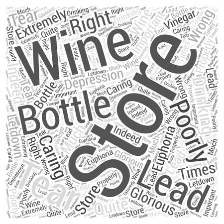Storing And Caring For Wine word cloud concept