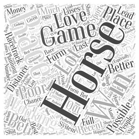game horse racing word cloud concept