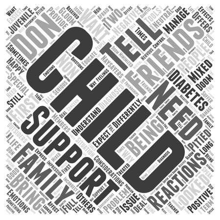 Support from Friends and Family word cloud concept