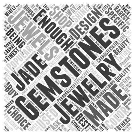 gemstones jewelry word cloud concept Ilustração