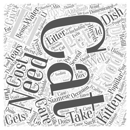 Taking Care Of Cats word cloud concept