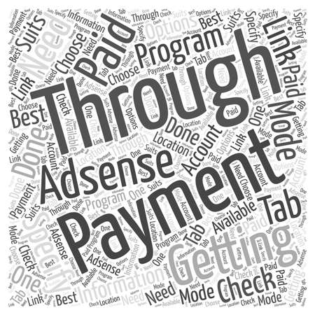 Getting paid through AdSense program word cloud concept