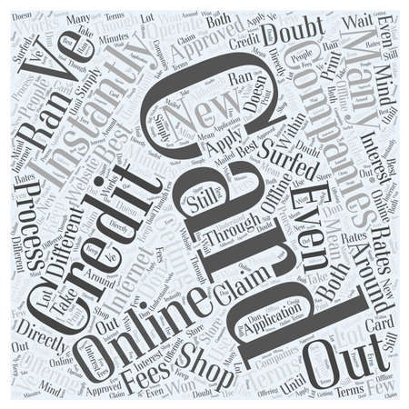 Getting Approved sofort Online-Wort-Cloud-Konzept Vektorgrafik
