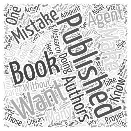 Getting a Book Published Common Mistakes You Want to Avoid word cloud concept Banco de Imagens - 67300744