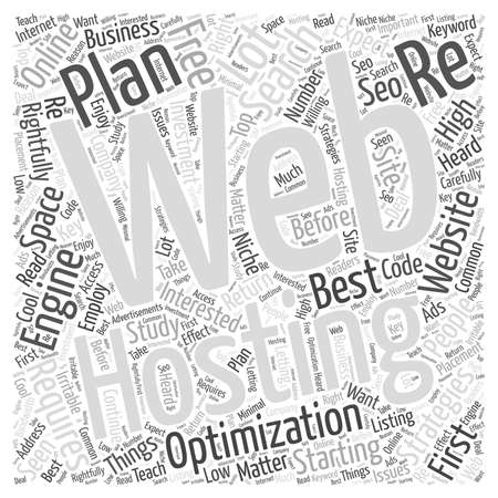 Get The Best Web Hosting Plan word cloud concept
