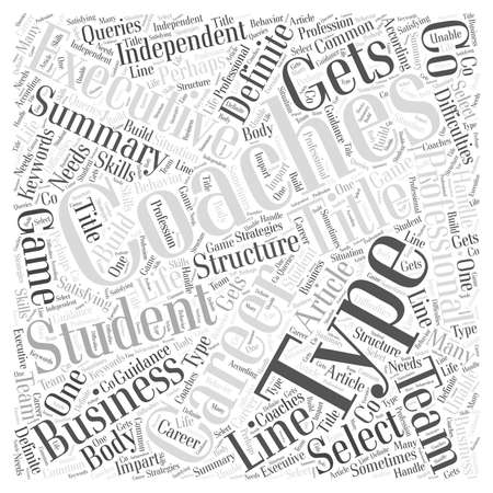 Team Coaching To Business Coaching It Gets You In The Game word cloud concept
