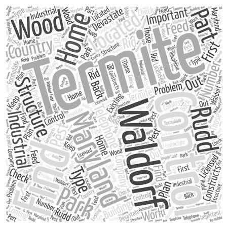 Lucha contra las termitas en Waldorf Maryland concepto de nube de palabras Foto de archivo - 67300762