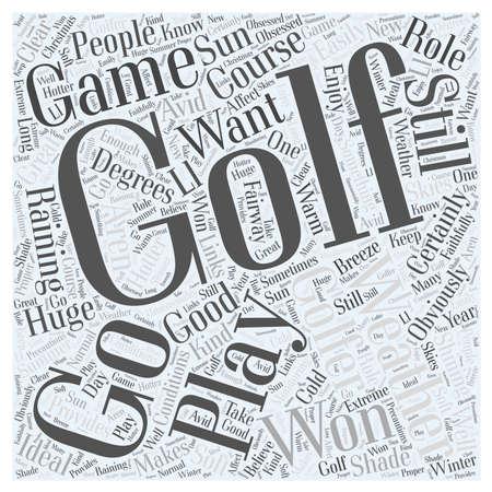 Golf weer woord wolk concept