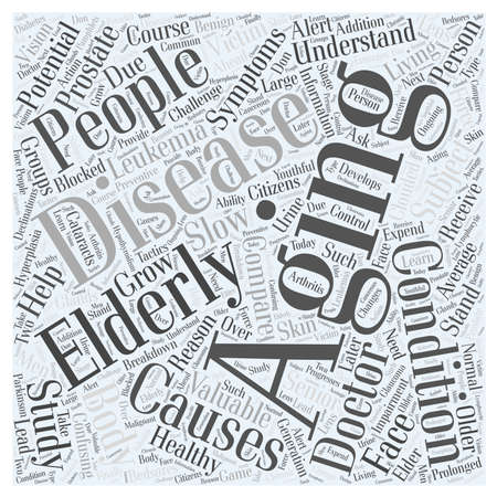 doctor who: The Aging Body in Healthy Living word cloud concept
