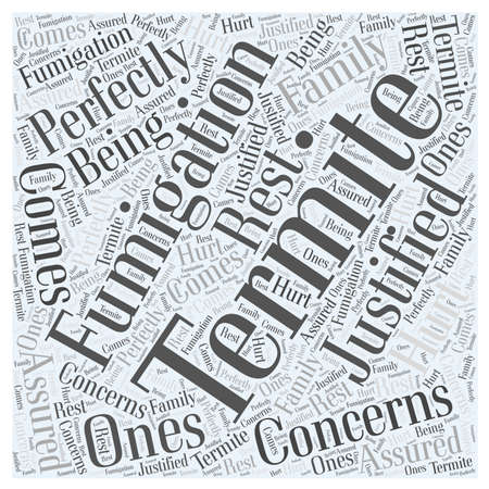 La fumigación de termitas Preocupaciones concepto de nube de palabras Foto de archivo - 67300793