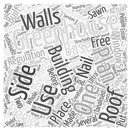 sawn: greenhouse plans free word cloud concept