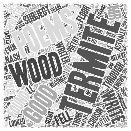 Termite Poems word cloud concept Illustration