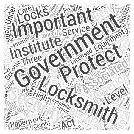 Government Locksmiths word cloud concept